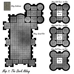 Dark Abbey Map
