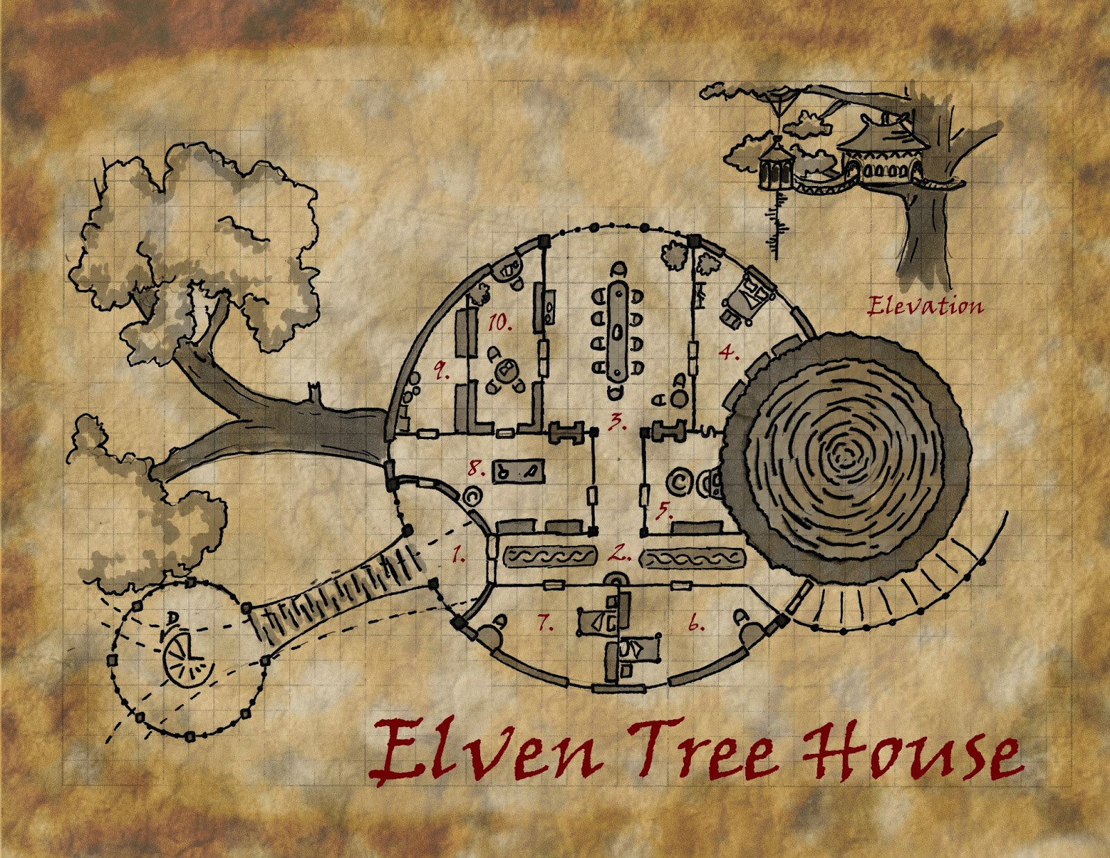 elven+tree+house