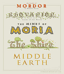 Middle Earth lettering [M1] by sirinkman