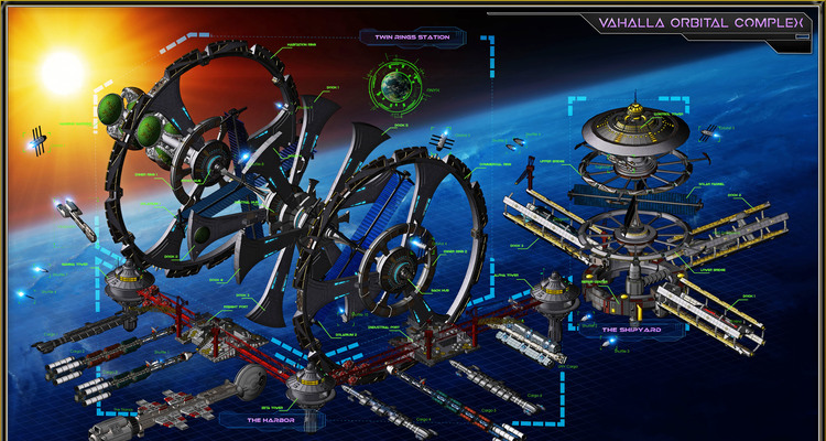 A Space Map: Valhalla Orbital Complex - By Francissimo